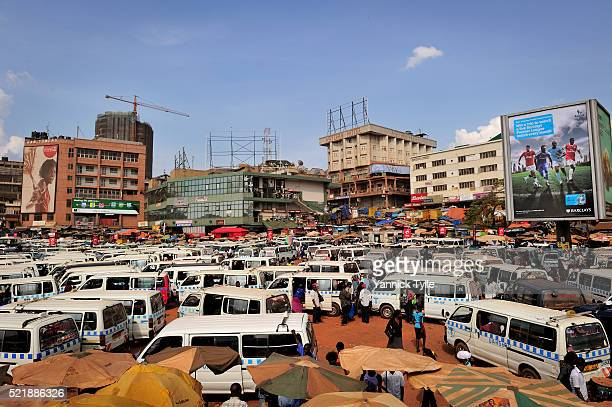 taxi-park in kampala, uganda - kampala stock pictures, royalty-free photos & images