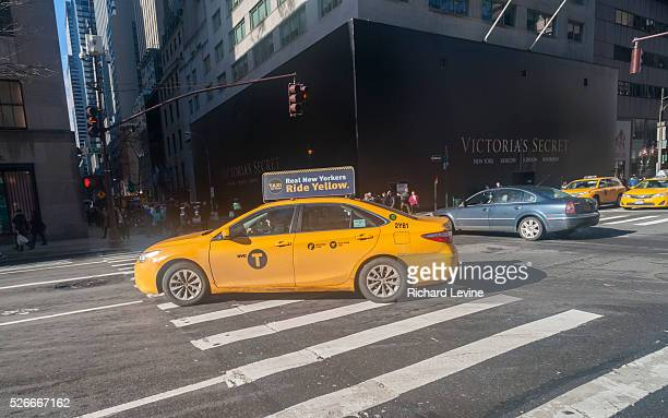 Taxis go about their business on Fifth Avenue in New York on Friday February 5 2016