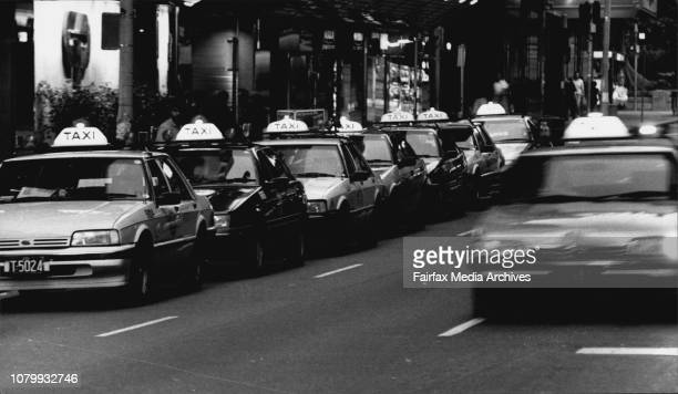 Taxi's in the City last night January 06 1992