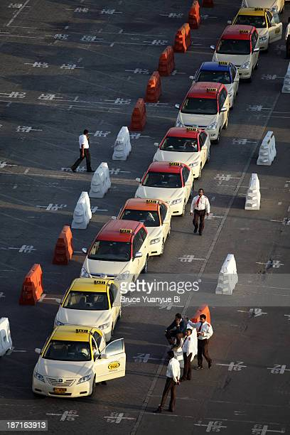 Taxis lined up