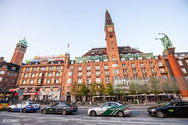 Taxis waiting for clients in Copenhagen