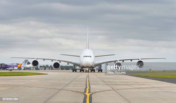 Taxiway with airplane Manchester Airport Manchester United Kingdom Architect n/a 2015