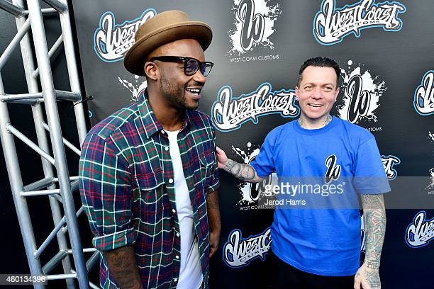 Tay James and West Coast Customs founder and CEO Ryan Friedlinghaus attend` the Grand Opening of West Coast Customs Burbank Headquarters on December...