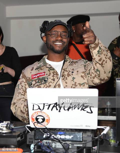 Tay James spins the release of Marina Acton's new single Fantasize at Boulevard3 on March 5 2018 in Hollywood California