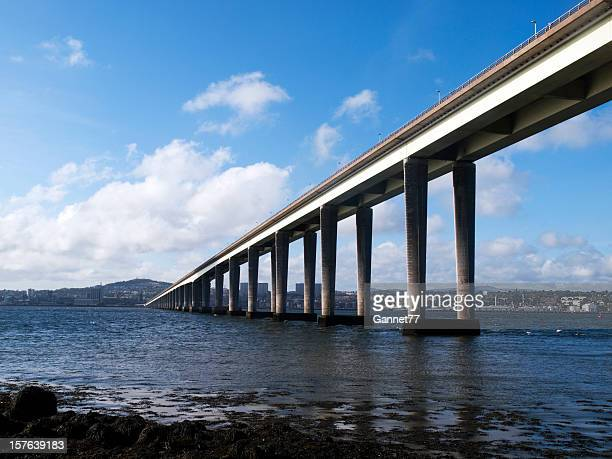 Tay Road Bridge to Dundee, Scotland