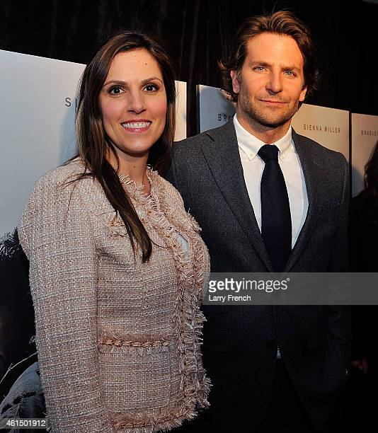 Taya Kyle and Bradley Cooper attend the opening of 'American Sniper' at the Burke Theater at the US Navy Memorial on January 13 2015 in Washington DC