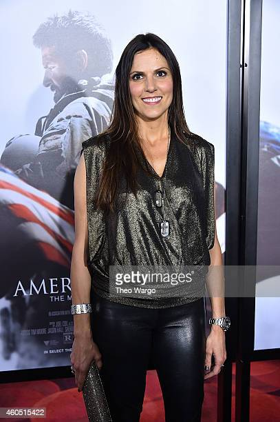 Taya Kyle arrives at the American Sniper New York Premiere at Frederick P Rose Hall Jazz at Lincoln Center on December 15 2014 in New York City