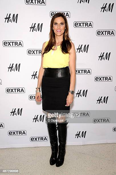 Taya Kyle visits Extra at their New York studios at HM in Times Square on September 8 2015 in New York City