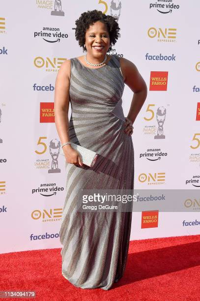 Tayari Jones arrives at the 50th NAACP Image Awards at Dolby Theatre on March 30 2019 in Hollywood California