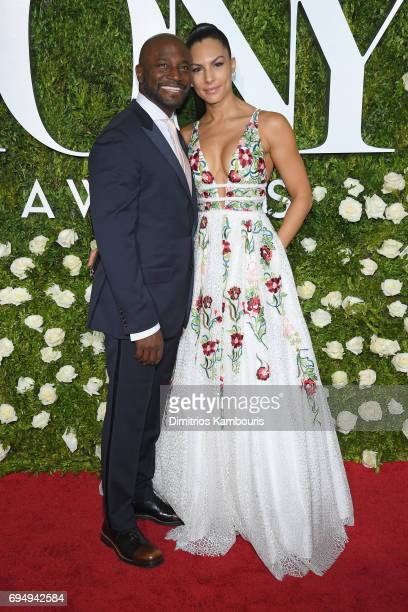 Taye Diggs and Amanza Smith attend the 2017 Tony Awards at Radio City Music Hall on June 11 2017 in New York City