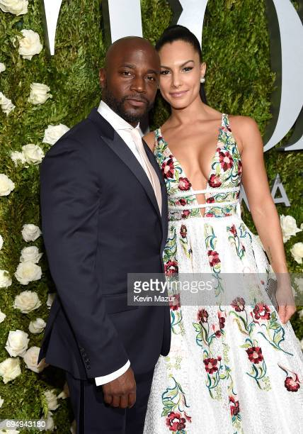 Taye Diggs and Amanza Smith Brown attend the 2017 Tony Awards at Radio City Music Hall on June 11 2017 in New York City
