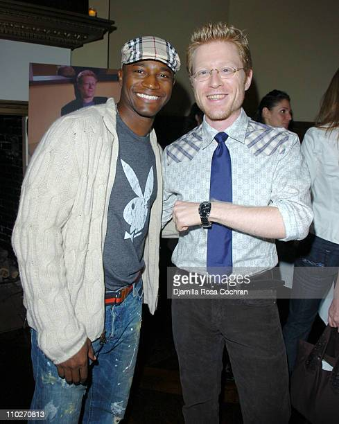 Taye Diggs and Anthony Rapp during Gotham Magazine and Versace Precious Watches Celebrate Steven Pasquale and Anthony Rapp at Chemist Club in New...