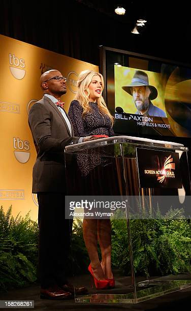 Taye Diggs and Busy Philipps at The 19th Annual Screen Actors Guild Awards Nominations Announcement held at The Pacific Design Center on December 12...