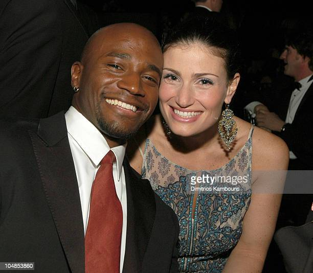 Taye Diggs and Idina Menzel during Ninth Annual Screen Actors Guild Awards Backstage and Audience at The Shrine Auditorium in Los Angeles California...