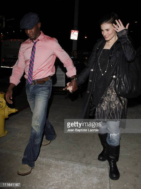 Taye Diggs and Idina Menzel sighting on February 5 2009 in Hollywood California