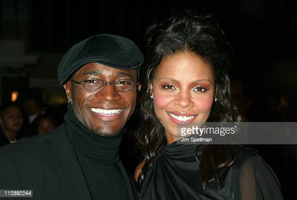 """Taye Diggs and Sanaa Lathan during """"Brown Sugar"""" - New York Premiere at The Ziegfeld Theater in New York City, New York, United States."""