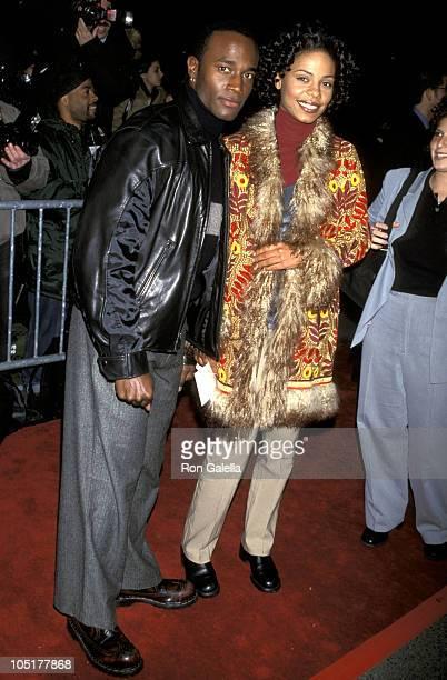 Taye Diggs and Sanaa Lathan during 'Meet Joe Black' New York Premiere at Ziegfeld Theater in New York City New York United States