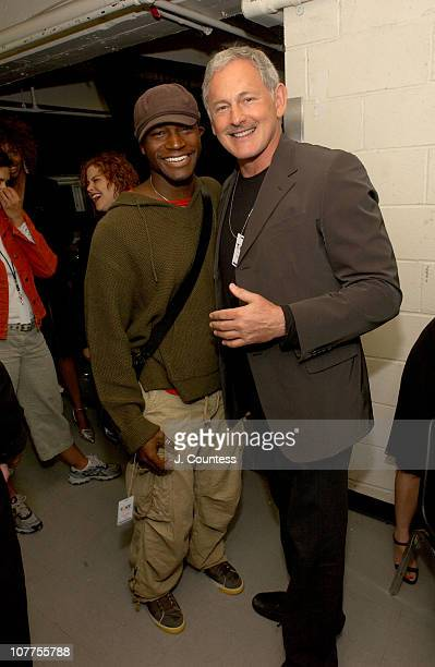 Taye Diggs and Victor Garber during 58th Annual Tony Awards On 3 Productions Gift Lounge at Radio City Music Hall in New York City New York United...
