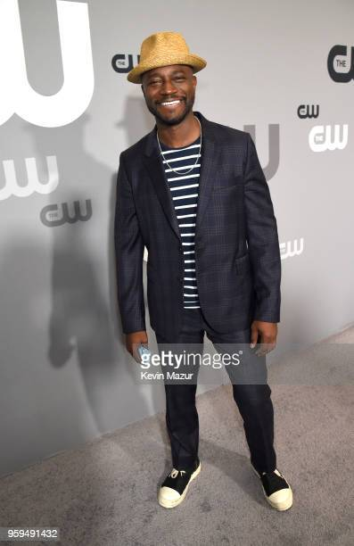 Taye Diggs attends The CW Network's 2018 upfront at The London Hotel on May 17 2018 in New York City