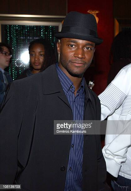 Taye Diggs during Matrix Reloaded New York Premiere Inside Arrivals at Ziegfeld Theater in New York City New York United States