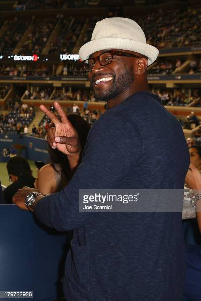Taye Diggs enjoys a night at US Open Tennis with Starwood Preferred Guest at USTA Billie Jean King National Tennis Center on September 5 2013 in New...