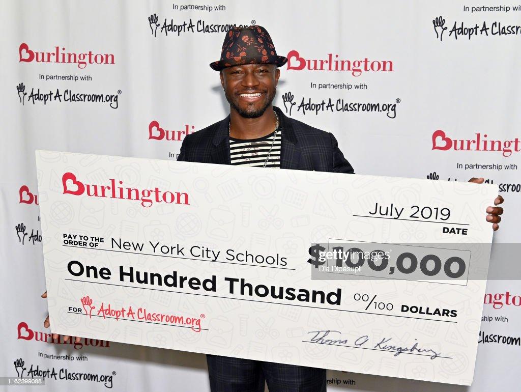 Taye Diggs Helps 2019 Annual AdoptAClassroom.org Donation Drive : News Photo