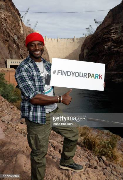 Taye Diggs joins the National Park Foundation on a #FindYourPark/#EncuentraTuParque tour November 21 2017 in Lake Mead National Recreation Area Nevada