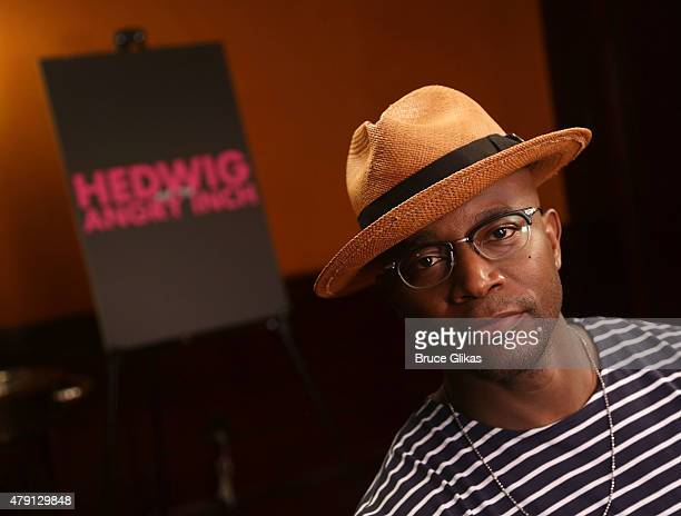 Taye Diggs poses at Hedwig And The Angry Inch new broadway cast photocall at The Lambs Club on June 30 2015 in New York City