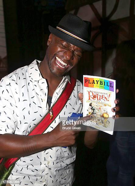 Taye Diggs poses backstage at the hit musical Something Rotten on Broadway at The St James Theater June 21 2015 in New York City