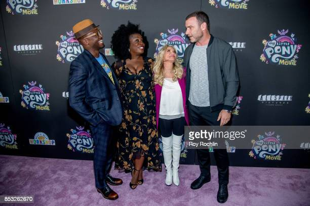 Taye Diggs Uzo Aduba Kristin Chenoweth and Liev Schreiber attend 'My Little Pony The Movie' New York screening at AMC Lincoln Square Theater on...