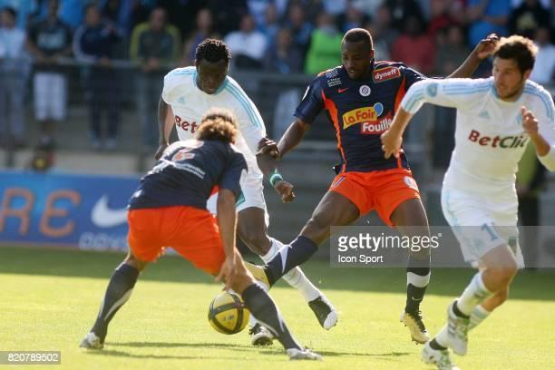 Taye TAIWO / John UTAKA - - Montpellier / Marseille - 31e journee Ligue 1,