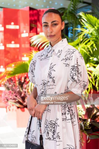 Tayla Damir attends the Piper-Heidsieck Champagne Bar during the 2021 Australian Open at Melbourne Park on February 09, 2021 in Melbourne, Australia.