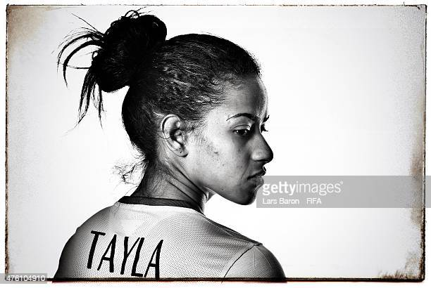 Tayla of Brazil poses during the FIFA Women's World Cup 2015 portrait session at Sheraton Le Centre on June 6, 2015 in Montreal, Canada.