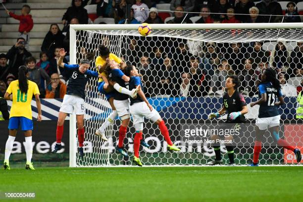 Tayla Santos of Brasil during the International Women match between France and Brazil at Allianz Riviera Stadium on November 10 2018 in Nice France