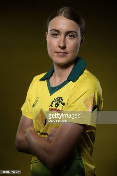 Tayla Vlaeminck poses during the Cricket Australia Women's National Squad Player Camp on September 13 2018 in Sydney Australia
