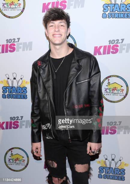 Tayler Holder attends A Place Called Home's Annual Stars And Strikes Celebrity Bowling And Poker Tournament at PINZ Bowling Entertainment Center on...