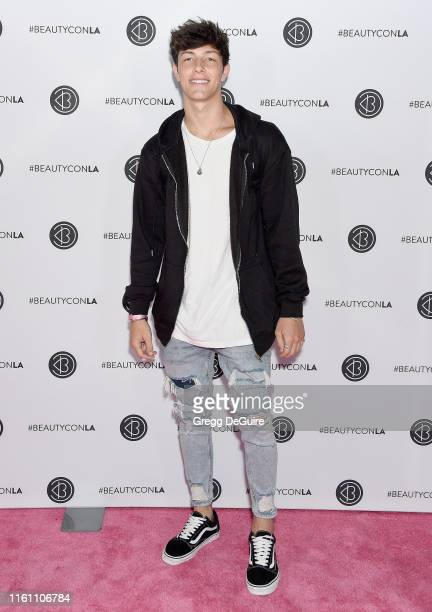 Tayler Holder attends Beautycon Los Angeles 2019 Day 2 Pink Carpet at Los Angeles Convention Center on August 11 2019 in Los Angeles California