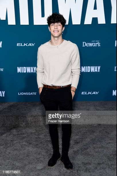 Tayler Holder attends the premiere of Lionsgate's Midway at Regency Village Theatre on November 05 2019 in Westwood California