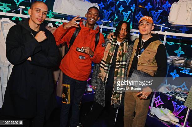 Tayler Prince Fraser Montell Mikey Martin Maxi Millz and Koen Prince Fraser attend the Louis Vuitton and Virgil Abloh London PopUp on October 19 2018...