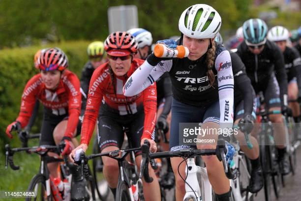 Tayler Wiles of The United States and TrekSegafredo / Refreshment / Bottle / during the 3rd Liège Bastogne Liège 2019 Women Elite a 1385km race from...