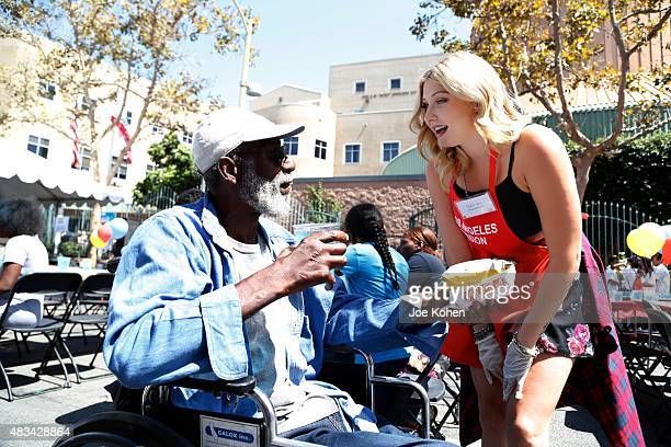Taylor Ann Hasselhoff attends the Los Angeles Mission's End Of Summer Block Party Time To Enjoy Being A Kid at Los Angeles Mission on August 8 2015...