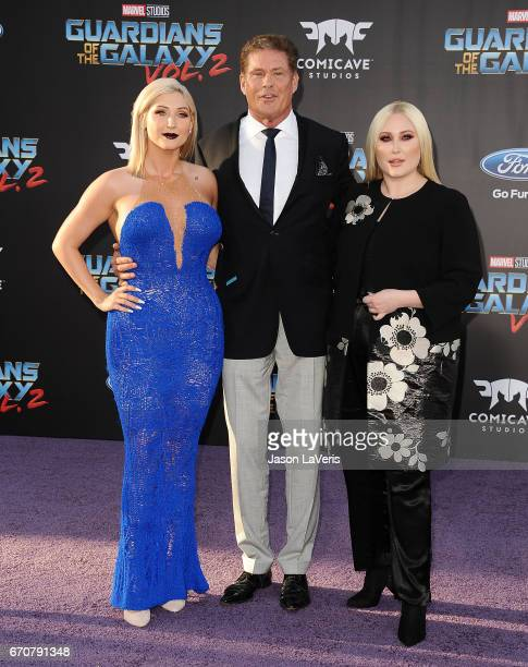 Taylor Ann Hasselhoff David Hasselhoff and Hayley Hasselhoff attend the premiere of Guardians of the Galaxy Vol 2 at Dolby Theatre on April 19 2017...