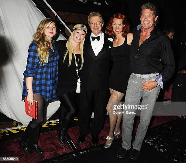 Taylor Ann Hasselhoff, Hayley Amber Hasselhoff, television personality Jerry Springer, actress Leigh Zimmerman and actor David Hasselhoff attend the...