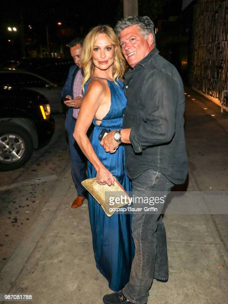 Taylor Armstrong and John H Bluher are seen on June 28 2018 in Los Angeles California