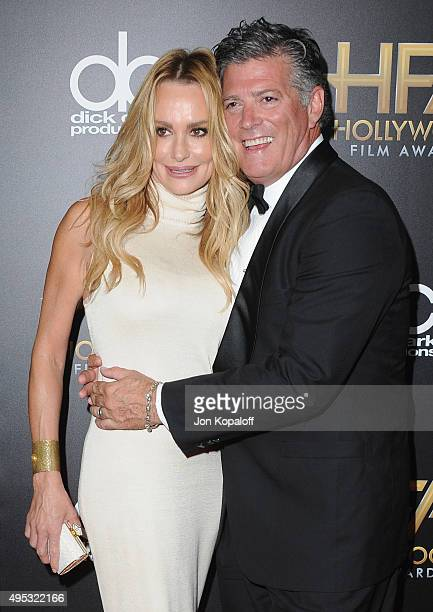 Taylor Armstrong and John H Bluher arrive at the 19th Annual Hollywood Film Awards at The Beverly Hilton Hotel on November 1 2015 in Beverly Hills...