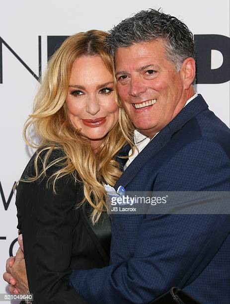 Taylor Armstrong and John H Bluher attend the Open Roads world premiere of 'Mother's Day' held at TCL Chinese theatre on April 13 2016 in Hollywood...