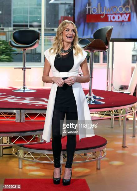 Taylor Armstrong visits Hollywood Today Live Studio on July 31 2014 in Hollywood California