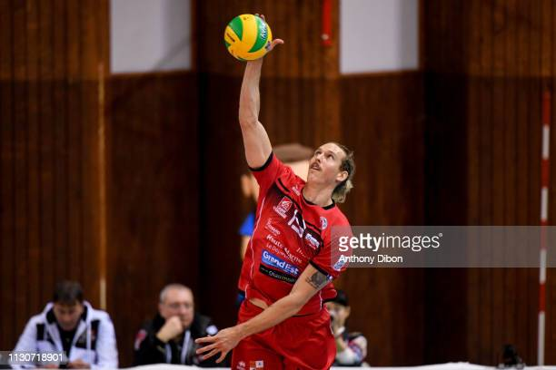 Taylor Averill of Chaumont during the CEV Champions League match Chaumont 52 and SIR Safety Perugia on March 14 2019 in Reims France