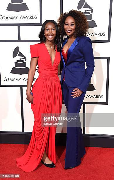 Taylor Ayanna Crawford and singer Yolanda Adams attend The 58th GRAMMY Awards at Staples Center on February 15 2016 in Los Angeles California