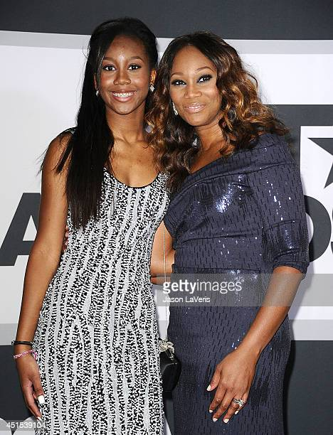 Taylor Ayanna Crawford and singer Yolanda Adams pose in the press room at the 2014 BET Awards at Nokia Plaza LA LIVE on June 29 2014 in Los Angeles...